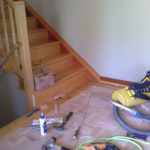 Stairs with tools